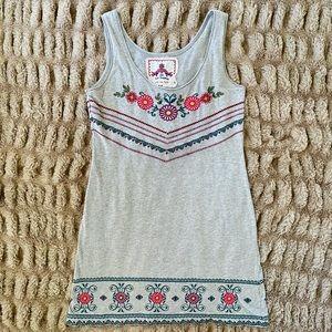 JWLA Johnny Was Embroidered Tank Dress